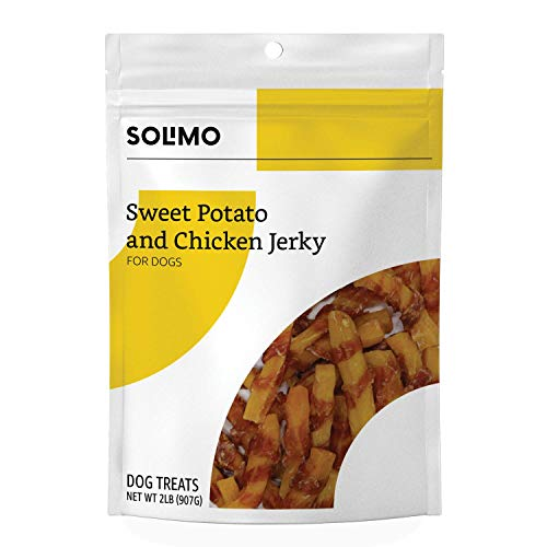 Amazon Brand – Solimo Sweet Potato & Chicken Jerky Dog Treats