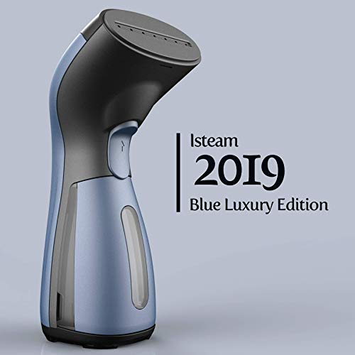 iSteam Steamer [Luxury Edition] [2019] 8-in-1 Powerful Use: Clothes Wrinkle Remover-Clean-Sterilize-Sanitize-Refresh-Treat-Defrost. for Garment/Home/Kitchen/Bathroom/Car/Face, Blue
