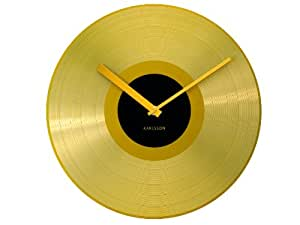 Karlsson Wall Clock Mega Disc Golden Record