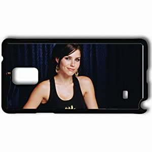 Personalized Samsung Note 4 Cell phone Case/Cover Skin Actress Sophia Bush Brunette Smiling Shirt Look Black