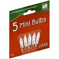 'Bombilla de repuesto Bombilla transparente de 2,5 voltios para juegos de luces de Navidad