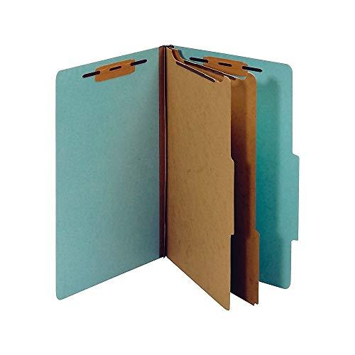 - Staples Colored Pressboard Classification Folders, Legal, 2 Partitions, Light Blue, 20/Pack
