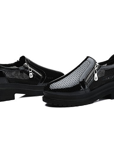 ZQ Zapatos de mujer - Plataforma - Plataforma / Creepers - Tacones - Oficina y Trabajo / Vestido / Casual / Fiesta y Noche - Tul -Negro / , white-us8 / eu39 / uk6 / cn39 , white-us8 / eu39 / uk6 / cn3 black-us5.5 / eu36 / uk3.5 / cn35