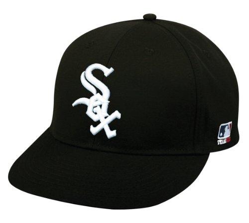 (2013 Adult FLAT BRIM Chicago White Sox Home Black Hat Cap MLB Adjustable)