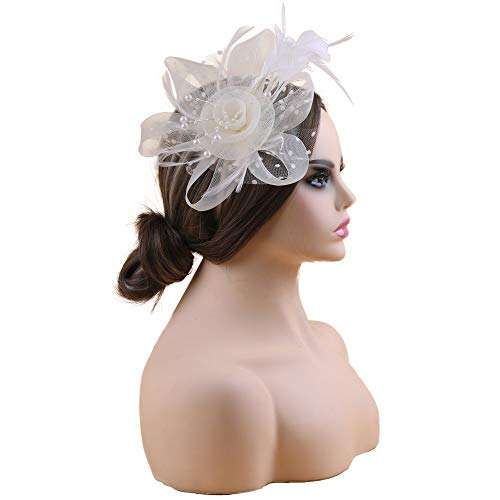 Fascinators Hats 20s 50s Hat Pillbox Hat Cocktail Wendy Party Headwear with Veil for Girls and -
