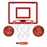 Indoor Mini Basketball Hoop and Balls 16'x12 - Basketball Hoop for Door Set - Indoor Mini Basketball Game for Kids
