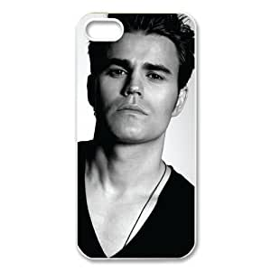 CTSLR Paul Wesley Protective Hard Skin for For SamSung Galaxy S4 Mini Phone Case Cover - 1 Pack - Black/White - 5