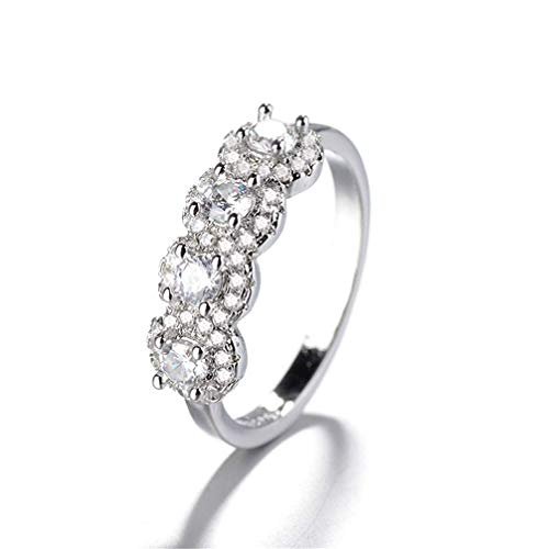 Potelin Glamour Ring Princess Wedding Band Engagement Ring For Women size 9 Durable and Useful