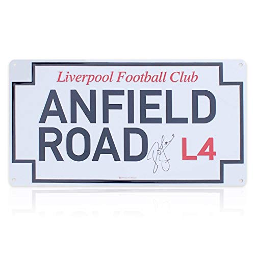 John Barnes Signed Anfield Road Street Sign | Autographed -