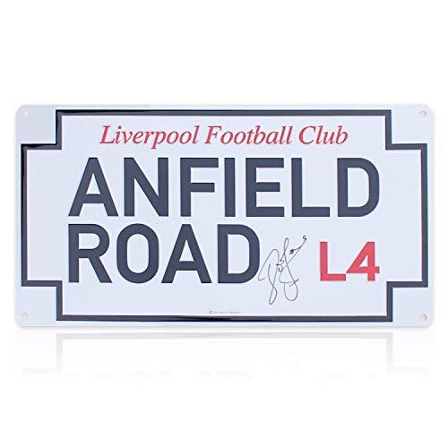 John Barnes Signed Anfield Road Street Sign | Autographed Memorabilia