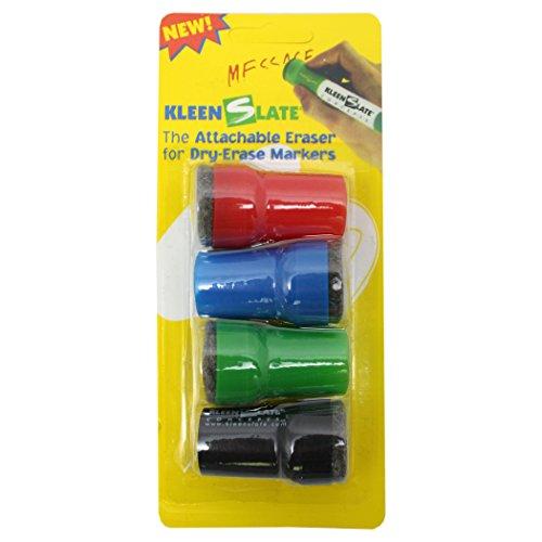 Kleenslate Concepts LLC. Kleenslate Attachable Erasers for Large Barrel Dry Erase Markers Whiteboard -