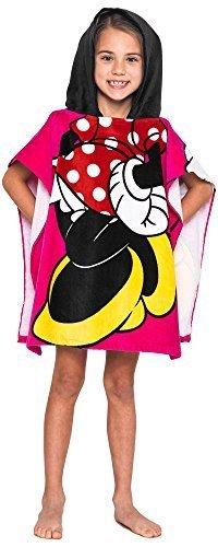 Disney Minnie Mouse Towel Hooded Poncho Bath Beach Girls (Mouse Towel)