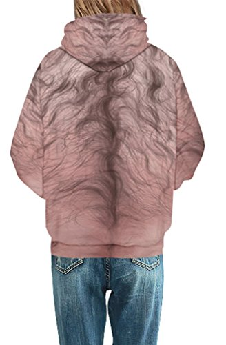 Leslady Felpe Hoodie Stampato 3d Cappuccio 1 Tasche Unisex Casual Coulisse Sweatshirt corps Con Maglione 5gnSr8gUq