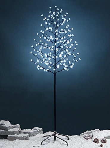 Fashionlite 6-feet 240 led cherry blossom flower tree light decoration(bright white) (White Tree Cherry)