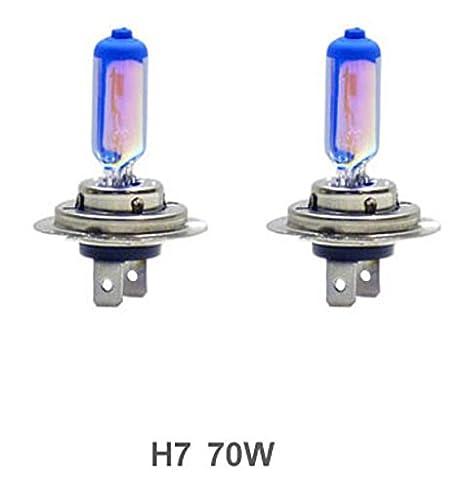 Amazon.com: GP Thunder GP85-H7 8500K H7 12V 70W Halogen Xenon White+Blue Color W/QUAZE Glass (2 Bulbs): Automotive