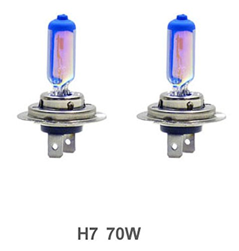 GP Thunder GP85-H7 Blue White H7 12V 70W Halogen Xenon Bulb White+Blue with Quartz Glass (High Wattage 8500K 2 Bulbs)