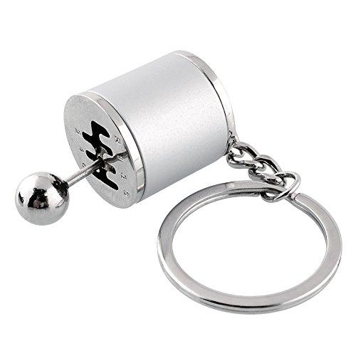 Sedeta OEM Car vehicle Keychain zinc alloy Silver Key Chain Gear Shift Stick Knob Gearbox Metal Key Ring Fob Ring for Men key chains making key chains silver key chains 1pcs zinc alloy Gear Stick knob Oem Gear Shift
