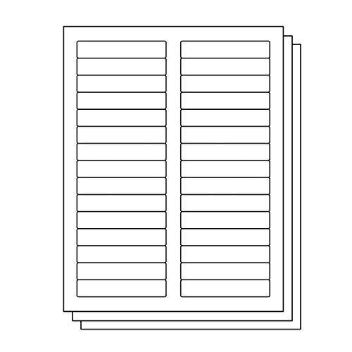 - OfficeSmartLabels Rectangular 2/3 x 3-7/16 File Folder Labels for Laser & Inkjet Printers, 0.6 x 3.43 Inch, 30 per sheet, White, 4500 Labels, 150 Sheets