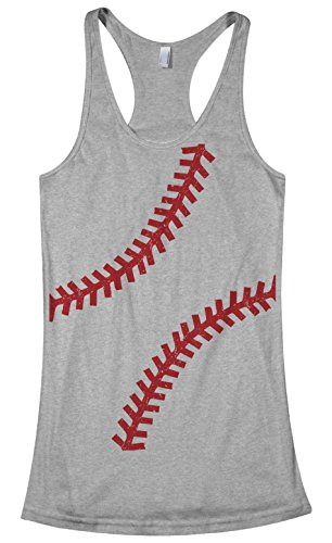 (Threadrock Women's Baseball or Softball seams Racerback Tank Top M Sport Gray )