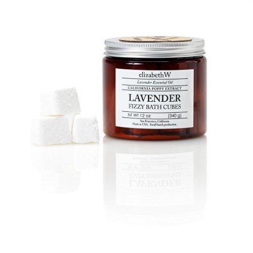 elizabethW Lavender Fizzy Bath Cubes (Sugar Bath Cubes)