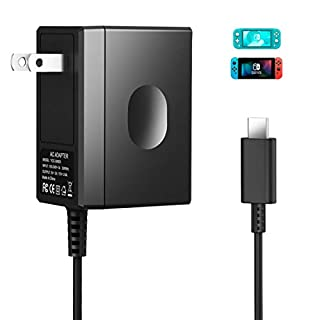 Switch Charger Compatible with Nintendo Switch & Lite, Nolansend AC Adapter Charger for Switch 5V 3A Fast charger for Switch Dock, Switch Pro Controller and Switch Lite