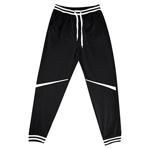 asual Baggy Hiphop Dance Jogger Sweatpants Trousers (Asia Size XXL-US Size L, Black) ()