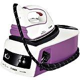 Bosch Sensixx B20L - Centro de planchado profesional, 2500 W, vapor 110 g/min, color blanco y violeta