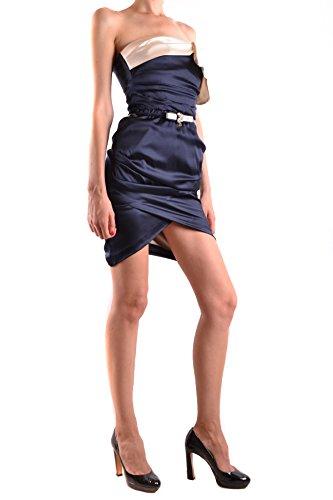 Elisabetta Franchi Damen MCBI113202O Blau Seide Kleid