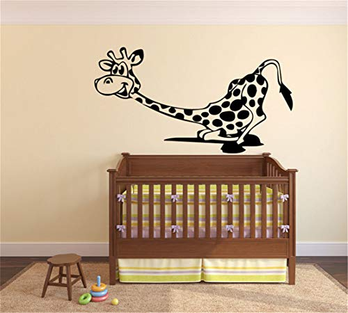 Giraffe Goofy - Family-decal Art Saying Lettering Sticker Wall Decoration Art Animal Wall Sticker Goofy Giraffe for Nursery Kids Room Boys Girls Room