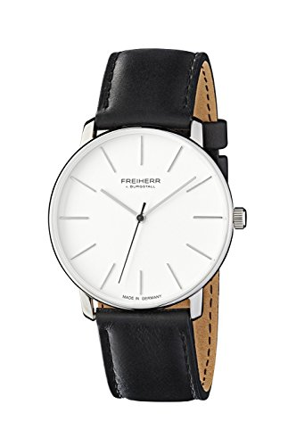 freiherr-v-burgstall-mens-and-womans-watch-stainless-steel-watch-with-leather-band-frankfurt