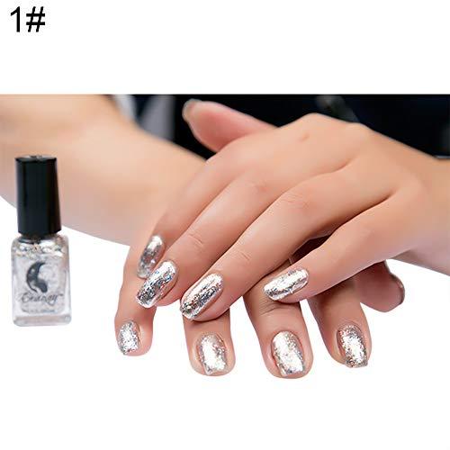 Gel Nail Polish Kekailu, Nail Art Decor Metallic Nail Polish Beauty Long Lasting Mirror Effect Shiny Tool - 1# ()