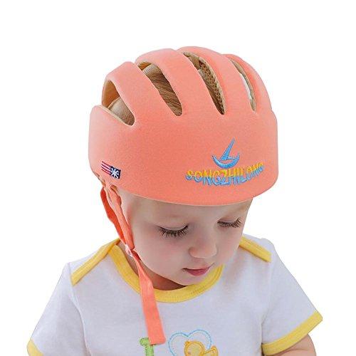 E Support Infant Baby Adjustable Safety Helmet Headguard Protective Harnesses Hat Orange