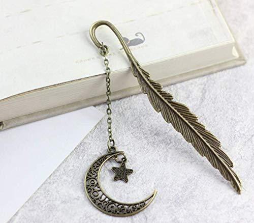 Segnalibro foglia segnalibro con luna stella nappa regali Salamii