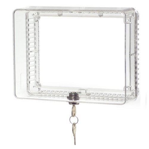 Honeywell CG511A1000/C Medium Thermostat Guard with Inner Shelf to Prevent Tampering (Guard Thermostat Plastic)