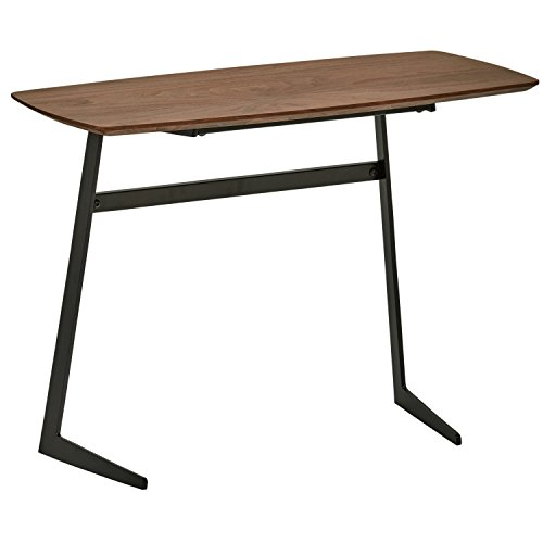 Rivet Industrial Tilted Wood and Metal Coffee Table, 31.5