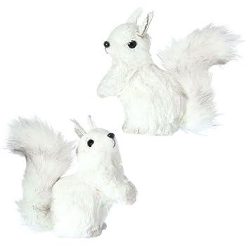 Amazoncom RAZ Imports  Christmas Ornament  White Squirrels 5