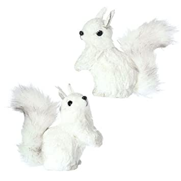 Amazon.com: RAZ Imports - Christmas Ornament - White Squirrels 5 ...