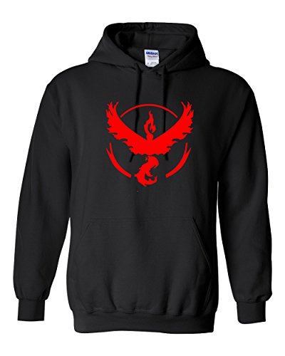 Pokemon Go Hoodies for Men - Team Valor (Black) - 2