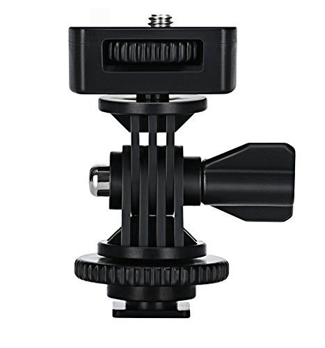 Camera Shoe Mount Adapter - VILTROX Adjustable Angle Pole Swivel Hot Shoe Mount 1/4