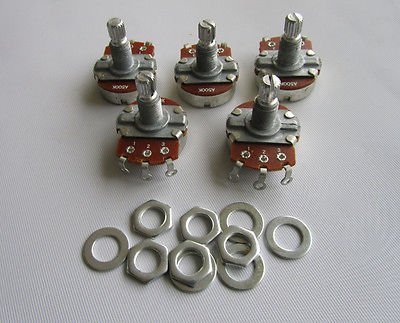 Large Audio Electric Guitar Pots 18mm Long Shaft 500K Potentiometer ()