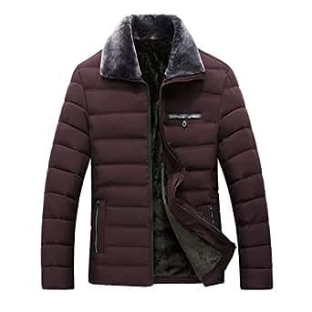 Winter Sale Men's Warm Cotton Coat Fashion Plush Lapel