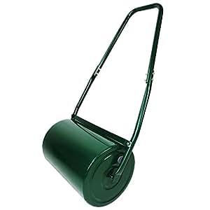 Oypla galvanizado Garden acero Césped Roller 30L excavadora a rodillos Bar & Plegable maneggiare Crea una Lawn degno de un Verde Bocce