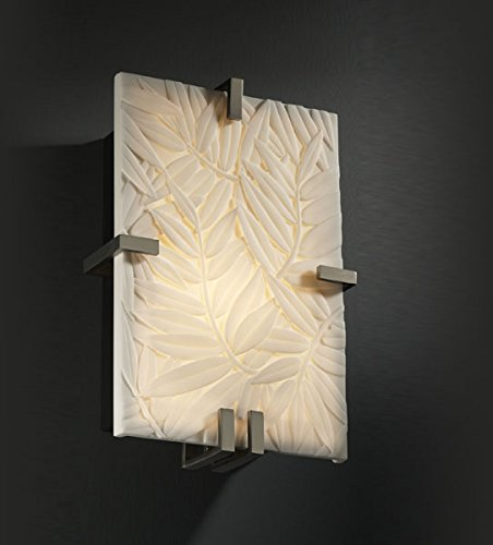 Justice Design Clips Group (Justice Design Group PNA-5551-BMBO-NCKL Porcelina Collection ADA Clips Rectangle Wall Sconce)