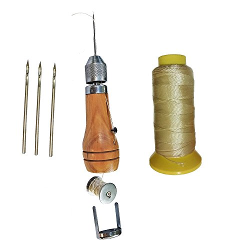 Swift Quick Hand Sewing Awl Leather Canvas Repair Saddles Coat Seat Stitcher Kit 4 Needles 180 yards Thread DIY Craft Leathercraft
