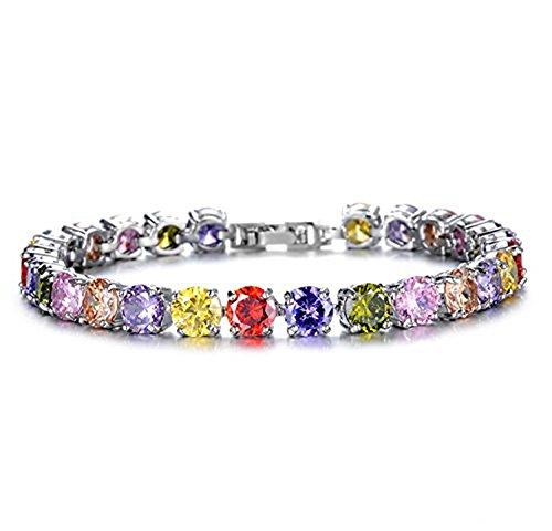 findout dames cubique mariage cristal de mode zircons Bracelets de luxe du parti. pour les femmes les filles, (1536)