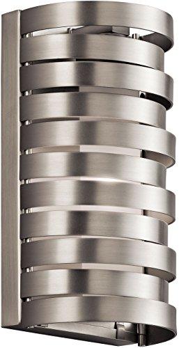 Kichler Halogen Sconce - Kichler 43305NI Roswell Wall Sconce 1-Light Halogen, Brushed Nickel