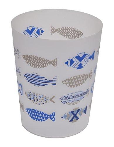 EVIDECO Printed Bathroom Floor Trash Can Waste Bin Wastebasket 4.5-Liters/1.2-Gal, Multi