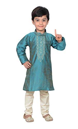 Desi Sarees Boys Bollywood Fashion Kids Kurta Pyjama Sherwani 933 (13 (13 yrs), Turquoise) by Desi Sarees