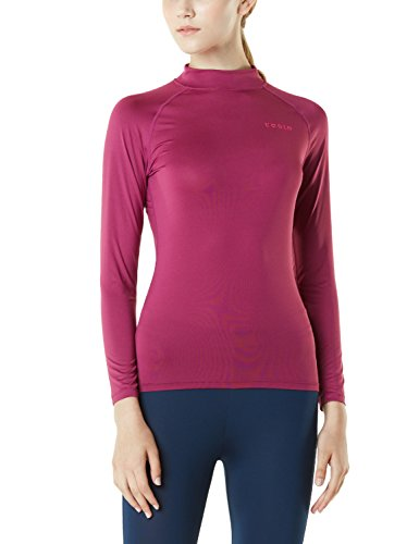 TM-FUT02-PLM_Small Tesla Women's Turtle Mock Long-Sleeved T-Shirt Cool Dry Compression Baselayer FUT02