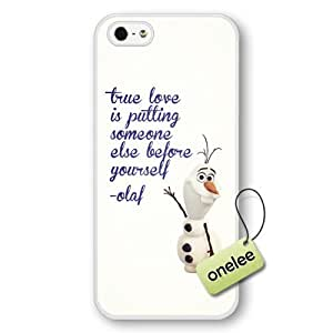 Disney Frozen Quotes Hard Plastic Phone Case Cover for iPhone 5/5s - White 1